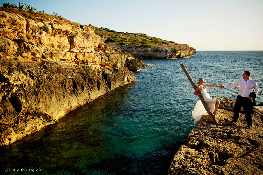 fotos de boda en Cap Rocat - Mallorca - fotos de boda originales - spain wedding photographer